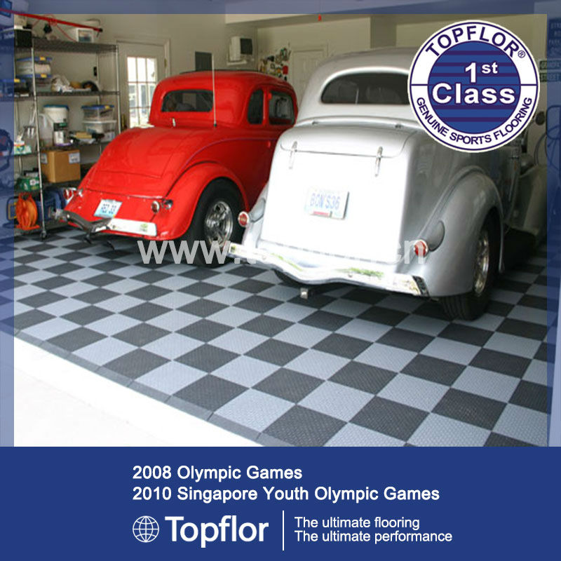 Modular PVC Plastic Floor Covering For Home Garage