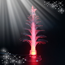 Top quality indoor desk USB LED mini fiber optic Christmas tree with star