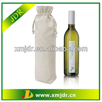 High Quality Fashion Cotton Drawstring Bottle Bag