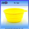 Portable collapsible pet travel food water feeder
