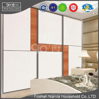 Foshan Narnia cheap wooden 3 doors sliding door wardrobe closet