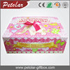 Pink Flat Folding Gift Boxes With