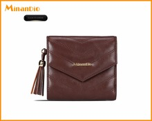 Top quality genuine lambskin leather small wallet, holding coin purse