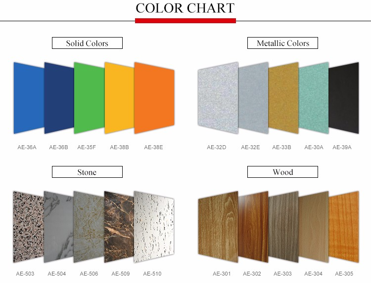 Construction wall wood acp aluminum composite panel for shop mall decoration