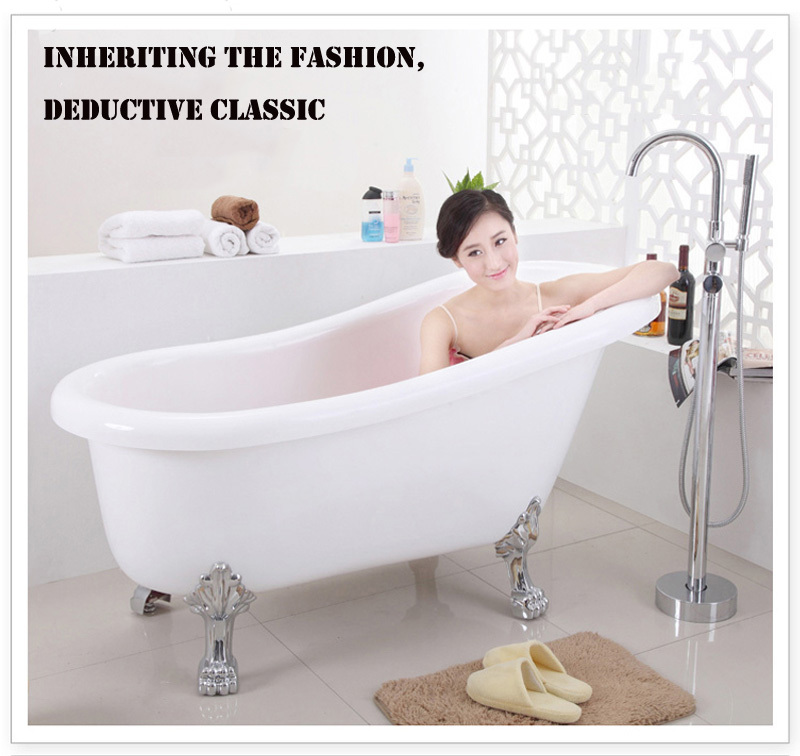 HS-B558 cheap free standing bathtub oval/soaker tub with jets, View ...