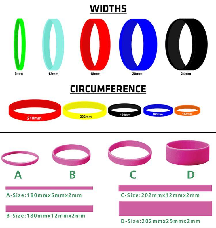 도매 Polyester Material Printing 팔찌 실리콘 Bracelets 대 한 자