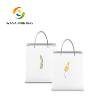 Lower price recycled custom logo white printed kraft paper gift bag