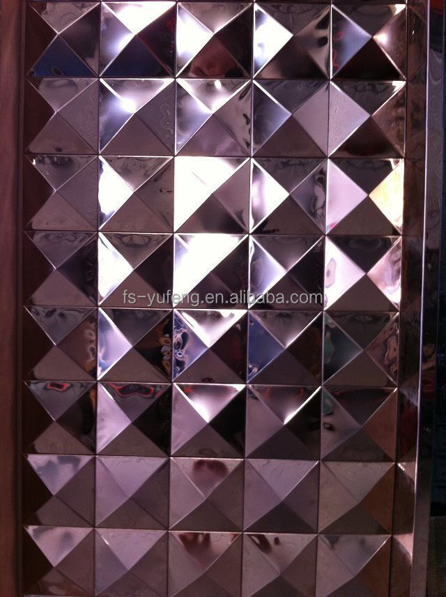 Decorative stainless steel wall panel 3d metal wall panels in foshan China