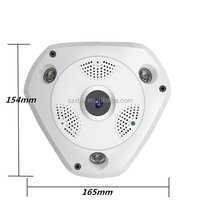 2017 new products 3.0 megapixel fisheye ip camera mini ir dome type fish eye camera 360 degree in cctv camera