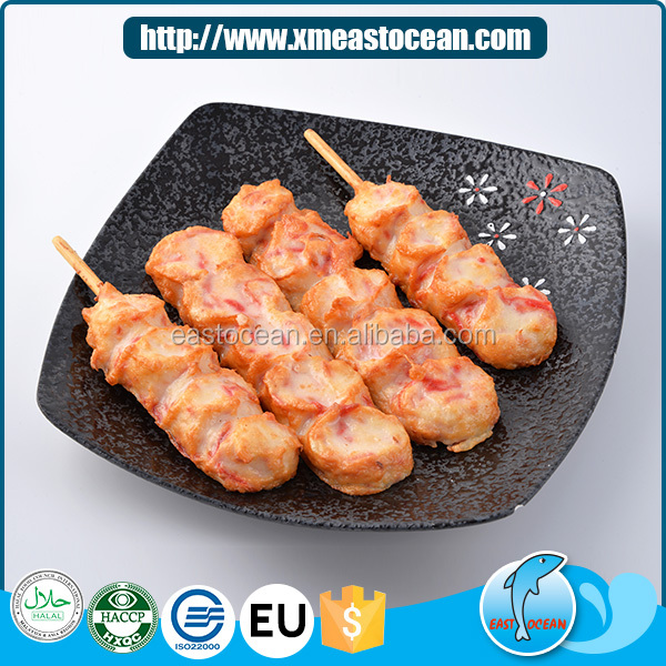 Latest design squid & ginger seafood fried snack frozen cakes wholesale