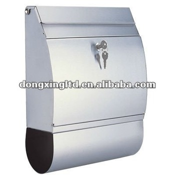 Wall mounted stainless steel mailbox