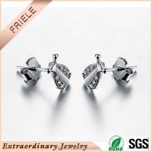 China wholesale Very adorable wedding earring stud s925 silver jewelry