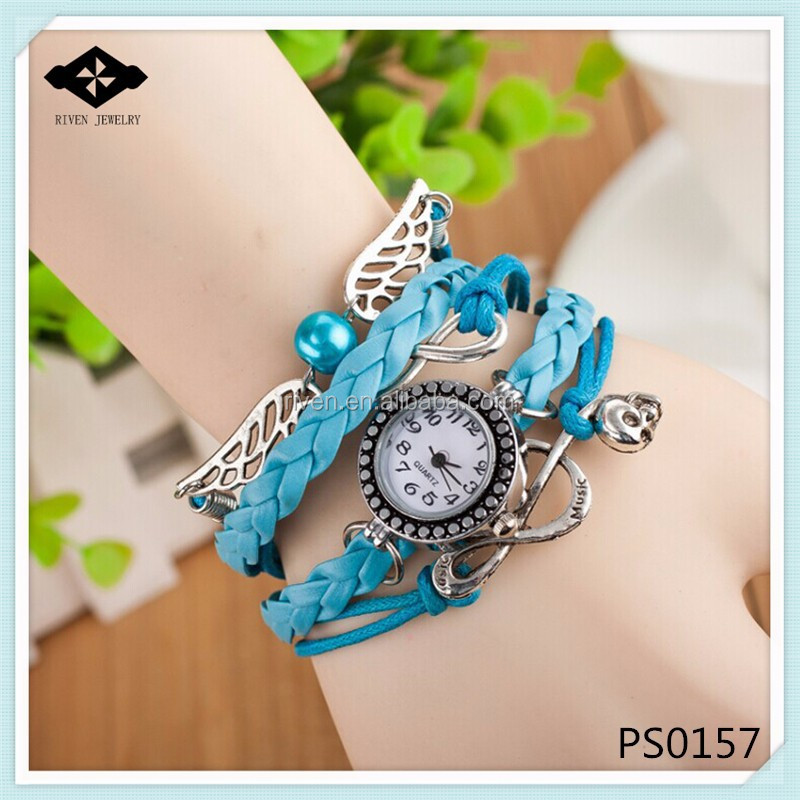PS0157 Double Wings Hand Woven Love Girls watch lighter