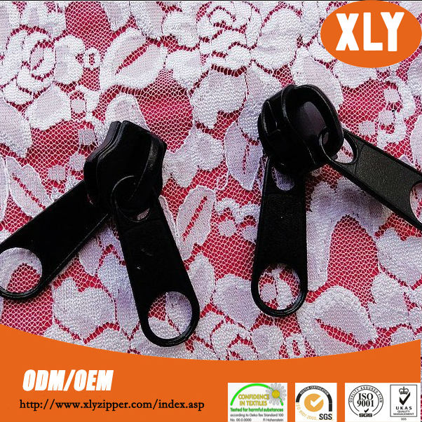 Multifunctional double pull zipper slider made in China for bags and garments
