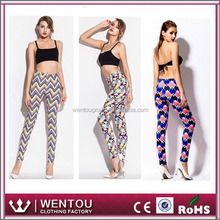 Tropical Printing Chevron Wholesale Leggings
