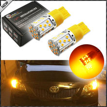 21W High Power Amber 7440 W21W T20 LED Bulbs For Car Front or Rear Turn Signal Light