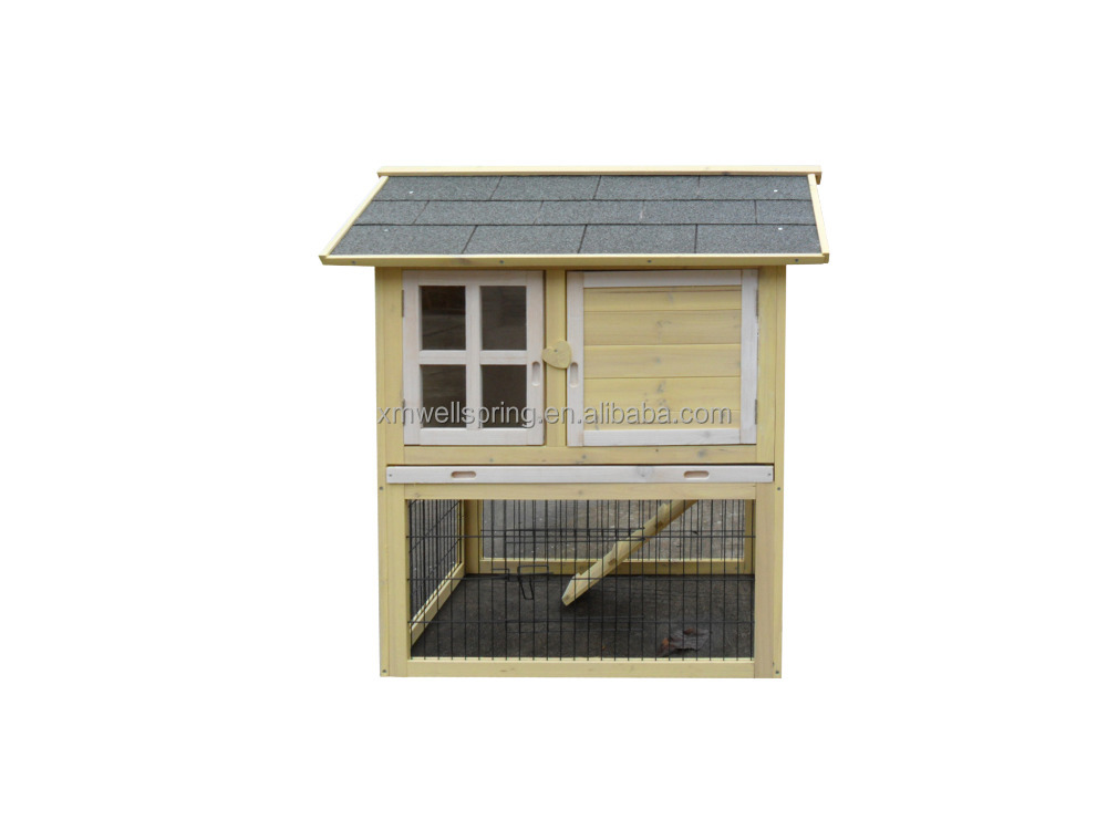 Wooden rabbit hutches