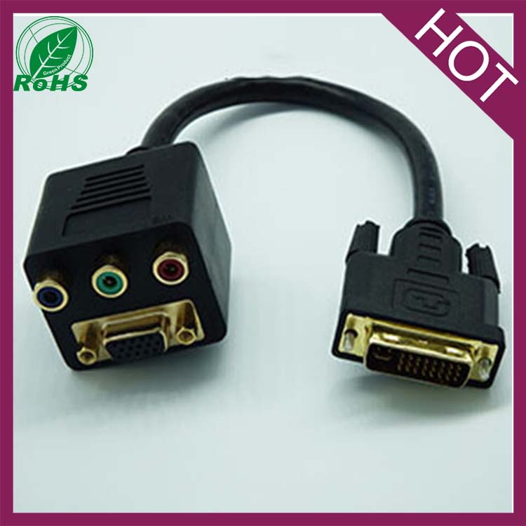 dvi to vga 3 rca av converter Adapter