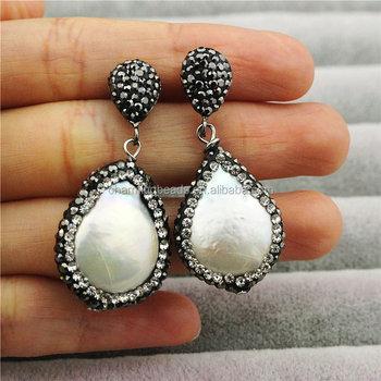 Ch-mae0132 Rhinestone Fashion Freshwater Pearl Jewelry Stud Earring ... c708c535f2ff