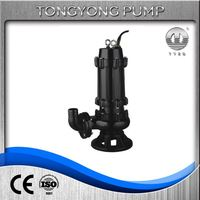 sewage mud electric motor lift centrifugal submersible pump