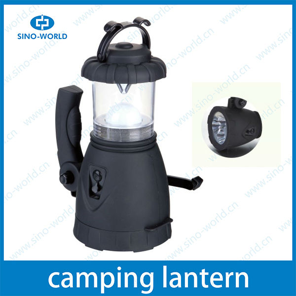 LED battery camping hunting light dual function rotated LED handhold rechargeable handle emergency lantern