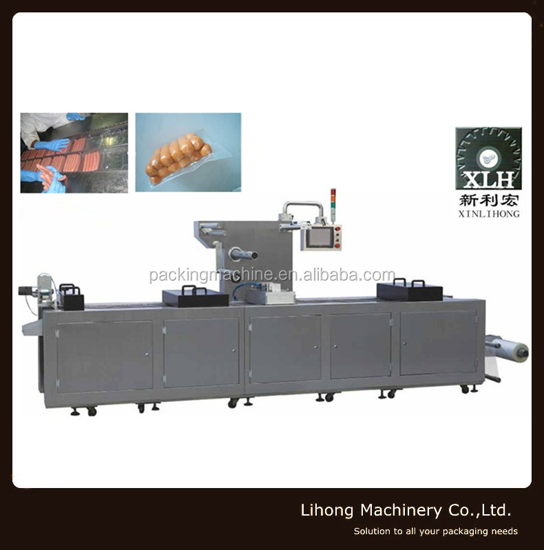 Form Fill Seal Automatic Continuous Stretch Thermoforming Food Vacuum Packaging Machine