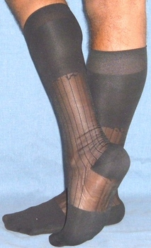 Sheer Nylon Thick N Thin Dress Socks TNT's OTC
