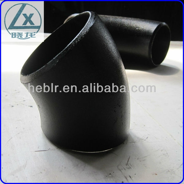 90 degree carbon steel elbow with black painting