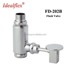 Taizhou factory Delay time toilet foot pedal flush valve auto cleaning