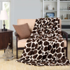 New Printing Coffee Color Super Flannel Soft Plaid Fleece Blanket
