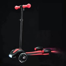 RUNSCOOTERS 2017 led light 3 wheels rockets spray fire kick scooters