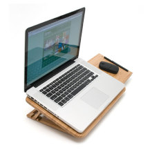 Amazing bamboo laptop Table stand with mouse pad in lap desks