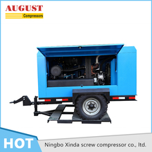 Hot Selling lubricated portable oil injected opl brand screw air compressor