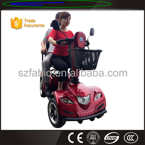 1500W 24V Big Size 2 Seat Four Wheel Electric Mobility Scooter