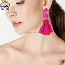 ELX-00787 wholesale factory price ball tassel earring sparkle ball earrings women tassel earrings