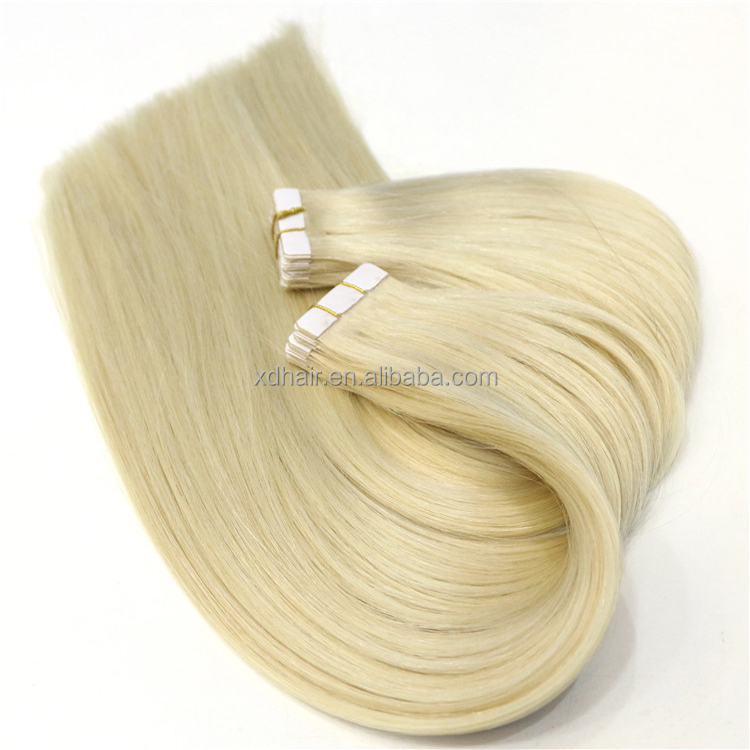 Hand made lovely hot selling skin weft 100% remy human tape hair extension