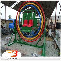 Kids Entertainment Equipment 3D Space Ring Human Gyroscope Gyro Ride For Sale