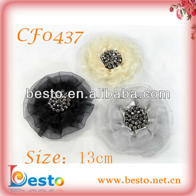 CF0437 2012 Fashon new fascinator flower wholesale hair accessories