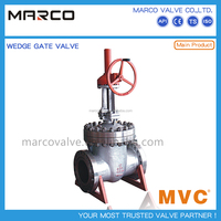 High quality API 600 ASME B16.34 standard butt welded and flanged end worm or bevel gear gate valve