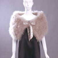 Ostrich Feather Shawls Beige French 2012-2013 newest fashion