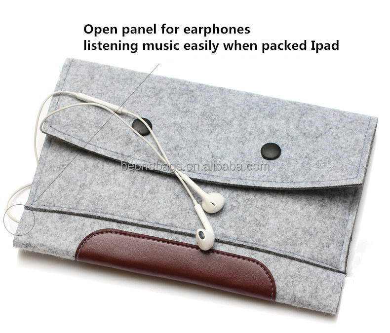 Wool Felt Inner Bag For iPad 2/3/4 Notebook Laptop Bags Cases for Ipad Ultrabook Laptop Sleeve