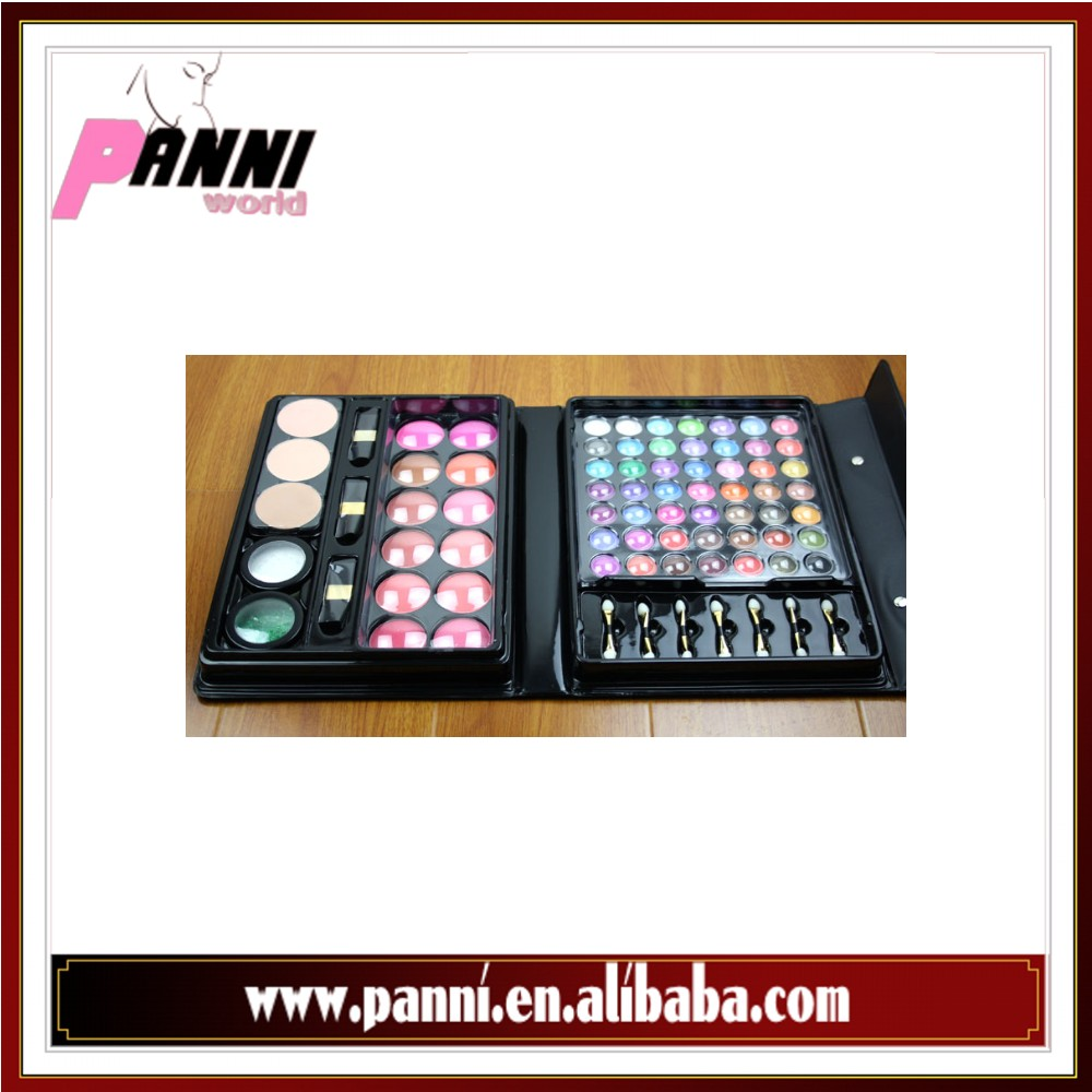 Hot Sell wholesale custom Logo 66colors lipgloss makeup palette eyeshadow set