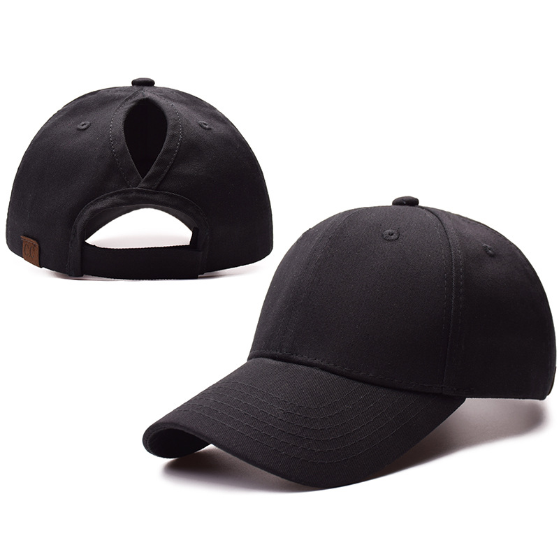 Blank 100% Cotton Twill Adjustable Sport <strong>Cap</strong> Hight Bun Hat Ponycaps Ponytail Baseball <strong>Cap</strong>