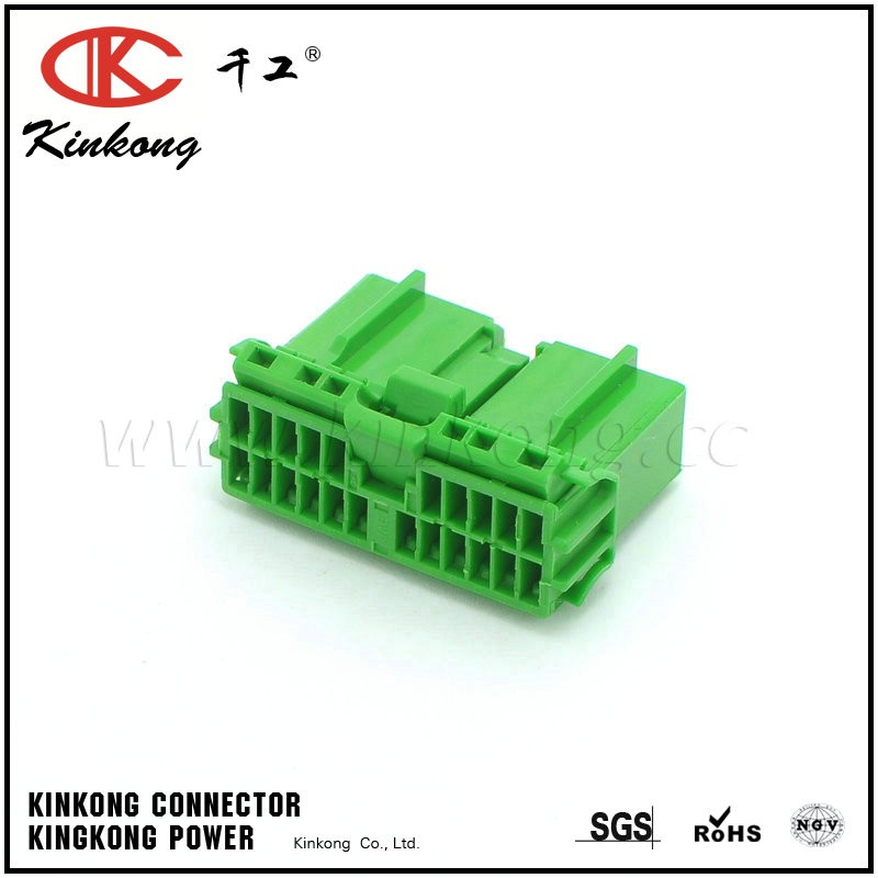 22 way Honda OBD2 Civic Green Chassis Connector