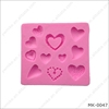 Different heart heart love cake mold silicone baking tools kitchen accessories decorations for cakes chocolates soap molds