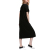 Solid Color High Side Slit Short Sleeve Summer Loose Dress Long Women T-Shirt Dress