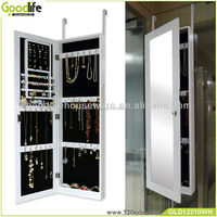 Modern living room hanging mirrored dressing cabinet for jewelry