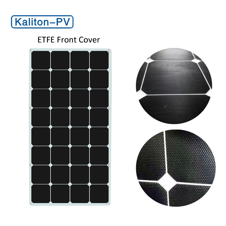 Semi Flexible ETFE 100W Waterproof Sunpower Solar Panel