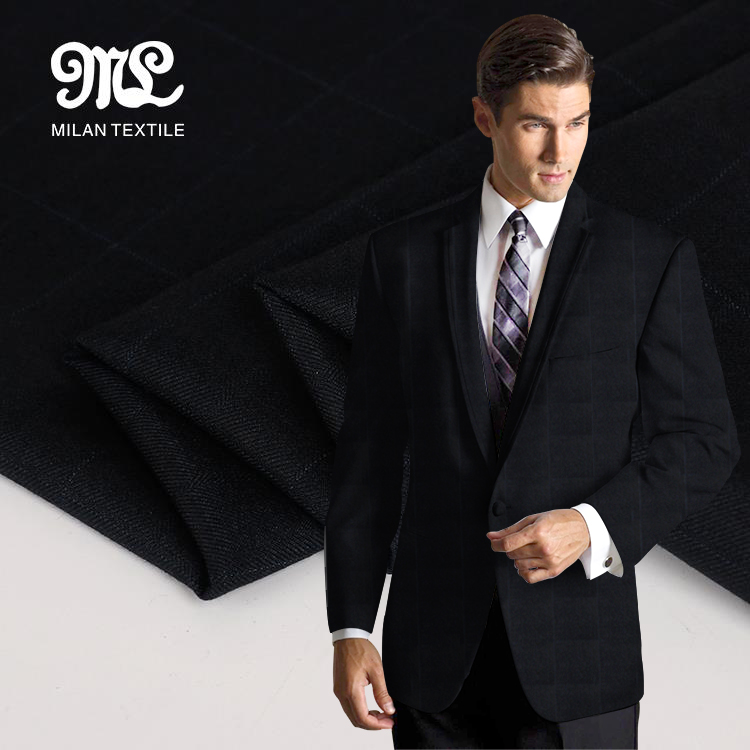 Alibaba supplier High quality man suit <strong>poly</strong> knitting blend fabric