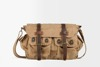 Good quality bulk man leisure daily canvas vintage leather style shoulder sling messenger bags